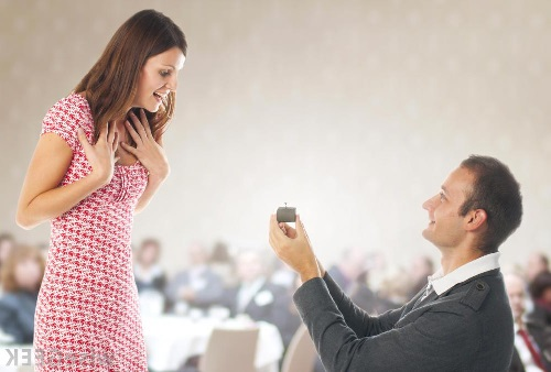 proposing with a diamond